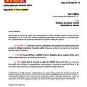 La venue de Pierre Laurent, secrétaire national du PCF dans le Pas de Calais