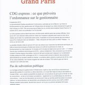 CDG : la Mairie de Paris réagit à l'annonce du Premier Ministre - ASA PNE