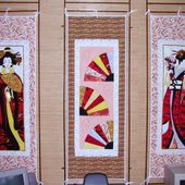 Geishas, making of - Quilting, Patchwork &amp&#x3B; Appliqué