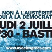 Manifestation de soutien au peuple grec le 2 juillet