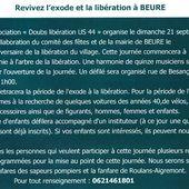Dimanche 21 septembre, Beure libéré !!! - blog indépendant relatif à l'actualité de la commune de BEURE