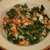 Riz sauté au chou plume, carotte et tofu fumé - monmaraicheralacasserole.over-blog.com