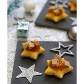 Étoiles feuilletés au foie gras et figue - Amandine Cooking