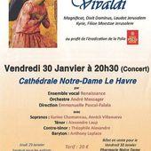 Concert Vivaldi, Vendredi 30 Janvier, 20h30, Cathédrale Notre-Dame du Havre - Ensemble Vocal Renaissance
