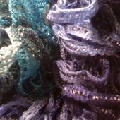 Echarpe bleue - CharlotteBlaBla: