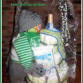 Le gateau de couches pour mon bébé d'amour .... - Le blog de tricotdamandine.over-blog.com