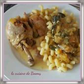 Pilons de poulet aux courgettes et à l'estragon ww - La cuisine de Boomy