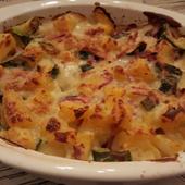 Gratin de pommes de terre et courgettes au bacon ww - La cuisine de Boomy