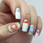 Rainbow Dotticure with Rimmel Polishes Inspired by...