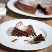Gâteau au chocolat sans beurre et sans farine très moelleux