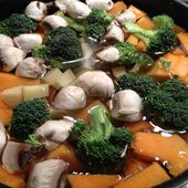 Soupe brocolis, courge, champignons de Paris - Les recettes d'Alicia