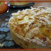 Tarte sablée aux pommes et aux amandes - Oh, la gourmande..