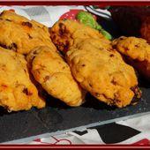 Cookies au chorizo, parmesan et basilic - Oh, la gourmande..