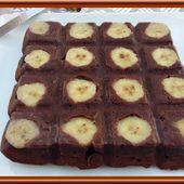 Brownie, Chocolat, Banane et Noix de Pécan - Oh, la gourmande..