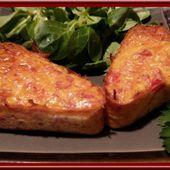 Clafoutis de poivron rouge et jambon fumé - Oh, la gourmande..