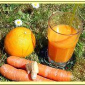 Jus d'orange, carottes et gingembre - Oh, la gourmande..