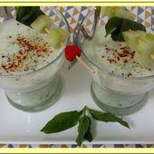 Soupe de concombre à la menthe et au fromage blanc - Oh, la gourmande..