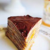 Le gâteau de crêpes abricots et chocolat avec Bonne Maman