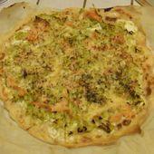 Recette de pizza poireaux saumon crème (au companion ou pas) - Mes Meilleures Recettes Faciles