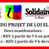 Projet de loi El Khomri - Grève du 31 mars 2016 - La Confédération Générale du Travail de la Réunion