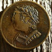 Lower Canada - 1820 half-penny - Bust and Harp Token Breton - Le blog de spade-guinea-george-iii.over-blog.com