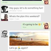 Google Androïd Apps Hangout : Les conversations SMS et Hangout avec un même contact sont maintenant combinées dans une unique conversation - OOKAWA Corp.