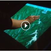 """Multi-touch screen - 2006 - intuitive """"interface-free"""" touch-driven computer screen - Watch the whole movie 09:32 duration ! - OOKAWA Corp."""