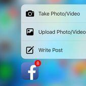 Facebook app ajoute le Touch 3D sur l'iPhone 6S - OOKAWA Corp.