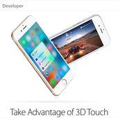 Apple rappelle aux développeurs que le 3D Touch peut intégrer leurs apps - OOKAWA Corp.
