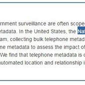 Les métadonnées téléphoniques révèlent des informations très privées - OOKAWA Corp.