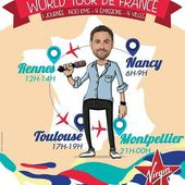 Demain, Camille Comball passe par Rennes, Nancy, Toulouse et Montpellier pour son World Tour de France