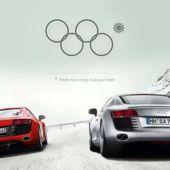 Audi surfe sur les anneaux olympiques #sotchi #jo - Yes I Will