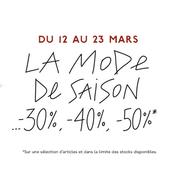 Du 12 au 23 mars, les Galeries Lafayette lancent les 3J avec des réductions jusqu'à -50% - Yes I Will