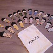 mémory des poupées kokeshi - paminatelier.com - les tutos de Pamina