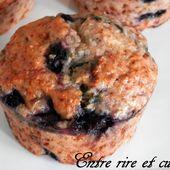 Muffins Bananes/Coco/Myrtilles bien moelleux {sans oeuf, sans beurre} - Entre rire et cuisine...