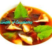 Soupe Miso, Shiitakés et Copeaux de Bonite, Umami - Grelinette et Cassolettes