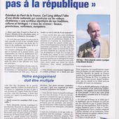 Carl Lang : « La France ne se réduit pas à la république »