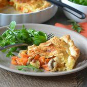 Chicken pie aux carottes - Le blog de C'est Nathalie qui cuisine