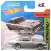 ASTON MARTIN DB5 1963 JAMES BOND 007 GOLDFINGER HOT WHEELS 1/64 - car-collector