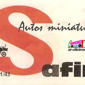 LISTE DES CATALOGUES SAFIR - car-collector.net