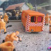 PEUGEOT J7 DDE AUTOROUTES NOREV 1/87 HO AVEC PERSONNAGES - car-collector