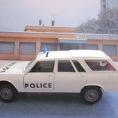 PEUGEOT 504 BREAK 4X4 DANGEL POLICE SOLIDO 1/43 - car-collector