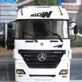 CAMION MERCEDES ACTROS 1840 TRANSPORTS ALLOIN ELIGOR 1/43 - car-collector