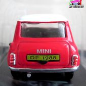 FASCICULE N°7 AUSTIN MINI COOPER 1988 ROUGE UNIVERSAL HOBBIES 1/43 - car-collector