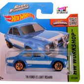 70 FORD ESCORT RS 1600 FAST AND FURIOUS 6 HOT WHEELS 1/64 - car-collector