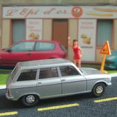 PEUGEOT 304 BREAK GRISE 1/43 AQUAVIT - car-collector.net
