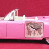 CADILLAC PINK LADY FIFTIES CAR ALARM CLOCK REVEIL CAD. ROCK JIVE BUNNY - car-collector.net
