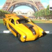 VW KARMAN GHIA COUPE DRAGSTER + BECQUET JADA TOYS 1/64 VOLKSWAGEN - car-collector.net