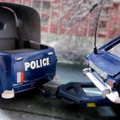RENAULT COLORALE POLICE FOURRIERE ZONE BLEUE AVEC R16 CIJ 1/45 - car-collector.net