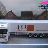 MERCEDES ACTROS V8 1858 TRANSPORTEUR JCL LOGISTICS SCHUCO 1/87 - car-collector.net